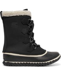 Sorel - Caribou Slim Waterproof Nubuck And Rubber Boots - Lyst