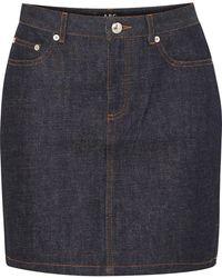 A.P.C. - Standard Denim Mini Skirt - Lyst