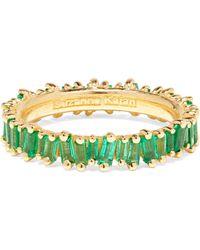 Suzanne Kalan - 18-karat Gold Emerald Ring - Lyst