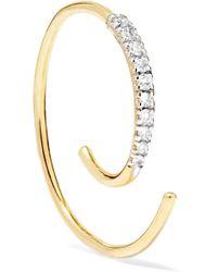 Maria Black - Loop 14-karat Gold Diamond Earring - Lyst