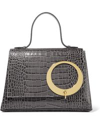 Trademark - Harriet Croc-effect Leather Tote - Lyst