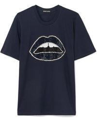 Markus Lupfer - Alex Embellished Cotton-jersey T-shirt - Lyst