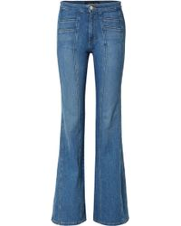 Veronica Beard - Farrah Paneled High-rise Flared Jeans - Lyst