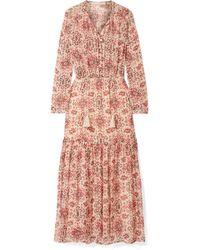 Vanessa Bruno - Jelyssa Printed Silk-crepon Maxi Dress - Lyst