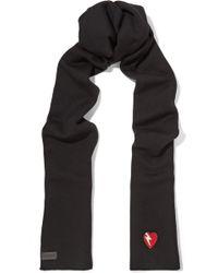 Saint Laurent - Appliquéd Wool Scarf - Lyst