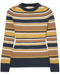 JoosTricot - Striped Stretch Cotton-blend Sweater - Lyst