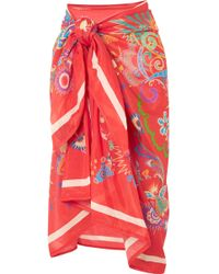 Etro - Printed Cotton And Silk-blend Pareo - Lyst