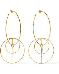 Mercedes Salazar - Dos Circulos Gold-plated Earrings - Lyst