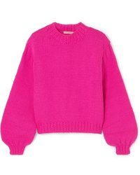 28abaa5f5def Ulla Johnson Amina Wool-blend Turtleneck Sweater in Pink - Lyst