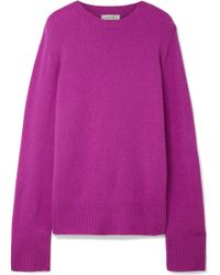 The Row - Sibel Wool And Cashmere-blend Sweater - Lyst
