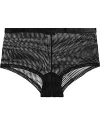 Cosabella - Powerhouse Panty Aus Beflocktem Stretch-tüll - Lyst