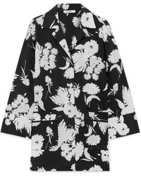 Ganni - Kochhar Floral-print Silk Crepe De Chine Shirt - Lyst