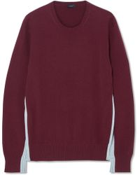 JOSEPH - Panelled Two-tone Cashmere Jumper - Lyst