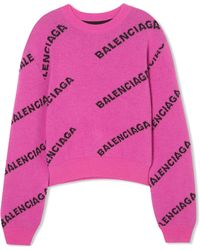 Balenciaga | Intarsia Virgin Wool Jumper | Lyst