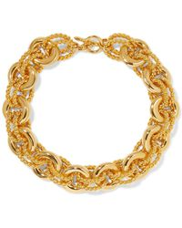 Kenneth Jay Lane - Gold-tone Necklace Gold One Size - Lyst