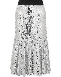 Dolce & Gabbana - Paillette-embellished Tulle Midi Skirt - Lyst
