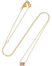 Alison Lou - 14-karat Gold, Sapphire And Diamond Necklace - Lyst