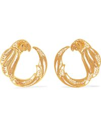 Mallarino - Pepa Gold Vermeil Hoop Earrings - Lyst