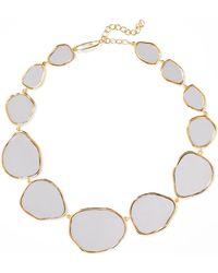 Aurelie Bidermann - Ciottolo Gold-plated Mirror Necklace - Lyst