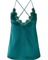 Cami NYC - The Everly Lace-trimmed Silk-charmeuse Camisole - Lyst