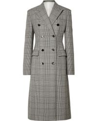 CALVIN KLEIN 205W39NYC - Prince Of Wales Checked Wool And Silk-blend Coat - Lyst