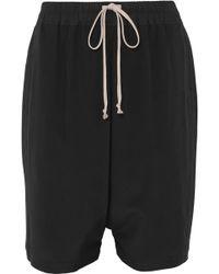 Rick Owens - Silk Shorts - Lyst