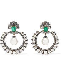 Amrapali - 18-karat Gold And Sterling Silver Multi-stone Earrings - Lyst