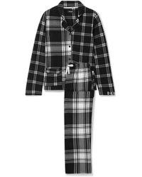 DKNY - Too Good To Give Checked Fleece Pyjama Set - Lyst