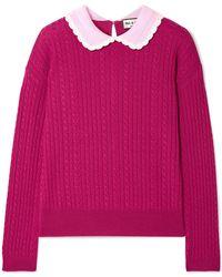 Paul & Joe - Cable-knit Wool Jumper - Lyst