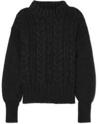 Cecile Bahnsen - Selma Open-back Cable-knit Merino Wool-blend Sweater - Lyst