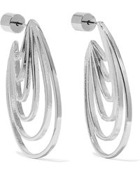 Jennifer Fisher - Rainbow Huggie Silver And Rhodium-plated Earrings - Lyst
