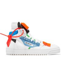 Off-White c/o Virgil Abloh - Off-court Logo-embellished Canvas And Leather High-top Sneakers White It37 - Lyst