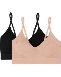 Baserange - Set Of Two Stretch-bamboo Soft-cup Bras - Lyst