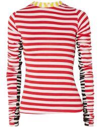 Preen Line - Uri Ruched Striped Stretch-jersey Top - Lyst