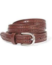 Isabel Marant | Kaylee Perforated Leather Belt | Lyst