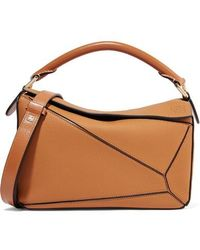 Loewe - Puzzle Small Textured-leather Shoulder Bag - Lyst
