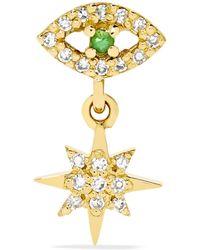 Ileana Makri - Eye Star 18-karat Gold, Diamond And Tsavorite Earring - Lyst