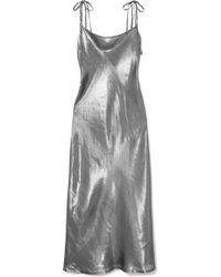 Georgia Alice - Hils Metallic Silk-blend Dress - Lyst