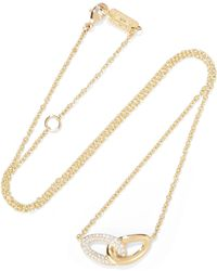 Ippolita - Cherish Bond 18-karat Gold Diamond Necklace - Lyst