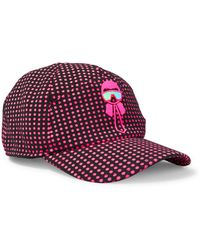 Fendi - Karlito Appliquéd Polka-dot Tech-jersey Baseball Cap - Lyst