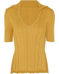 Jacquemus - Marinheiro Ribbed Cotton Sweater - Lyst
