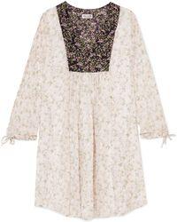 Paul & Joe - Printed Silk-crepon Dress - Lyst