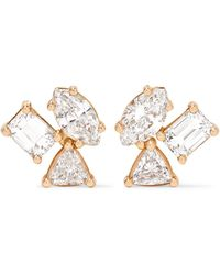 Kimberly Mcdonald | 18-karat Rose Gold Diamond Earrings | Lyst