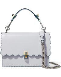 Fendi - Kan I Scalloped Leather Shoulder Bag - Lyst 9d5c3a0801a02