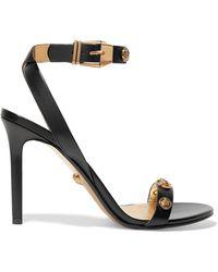 Versace - Verzierte Sandalen Aus Leder - Lyst