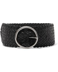 Andersons - Woven Leather Waist Belt - Lyst