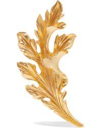 Oscar de la Renta - Gold-tone Brooch - Lyst