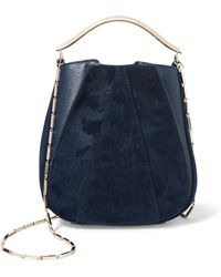 Eddie Borgo - Pepper Mini Pochette Twill And Textured-leather Bucket Bag - Lyst