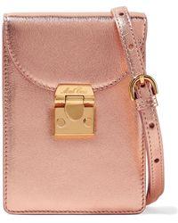 Mark Cross - Josephine Metallic Textured-leather Shoulder Bag - Lyst