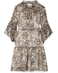 See By Chloé - Floral-print Cotton And Silk-blend Crepon Dress - Lyst